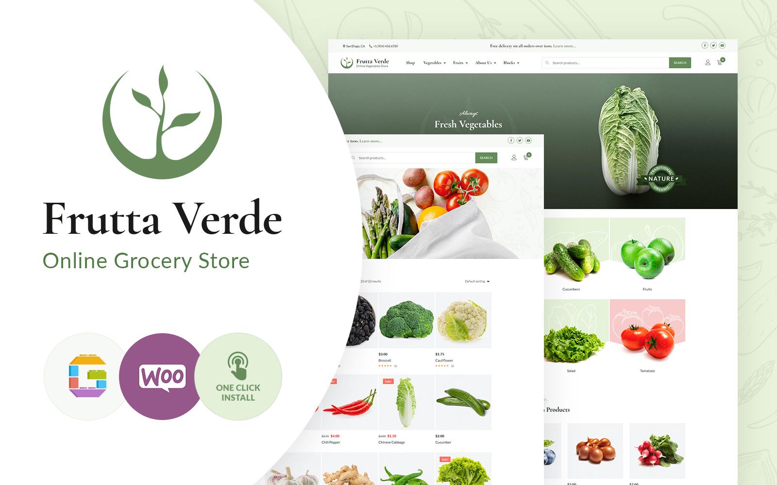 "Tema WordPress Responsive #102891 ""Frutta Verde"""