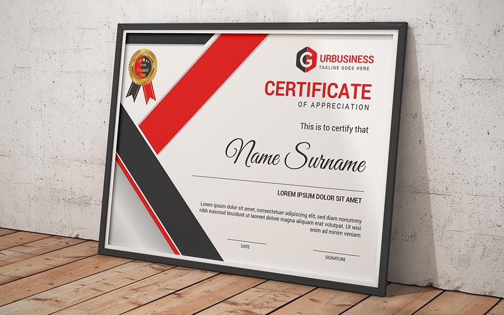 """Template di certificato #102838 """"Appreciation"""""""