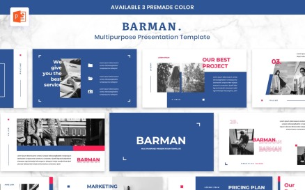 BARMAN - Creative Business PowerPoint Template