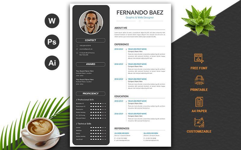 Clean CV Resume Template #102971