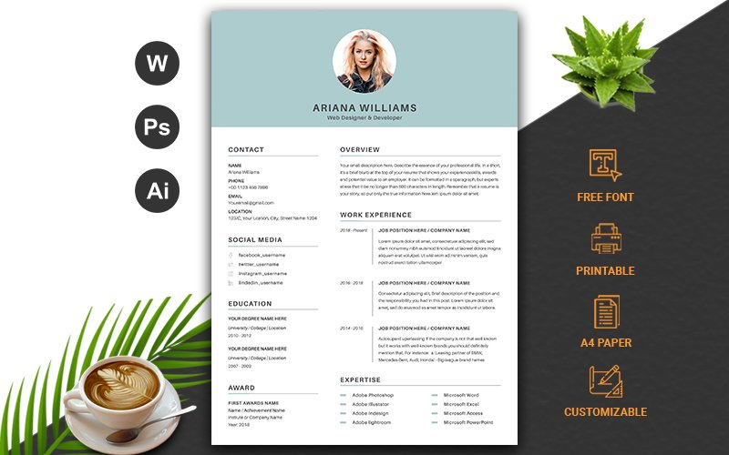 Word CV Resume Template #102967