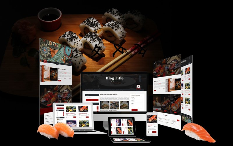 "WordPress Theme namens ""Fattsuhi | Japanese Sushi Restaurant"" #102983"