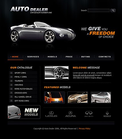 programe web design dealer auto