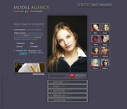 Шаблон сайта на Flash (10318)