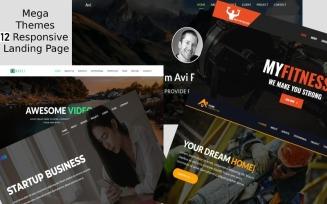 Mega Multipurpose Landing Page Template