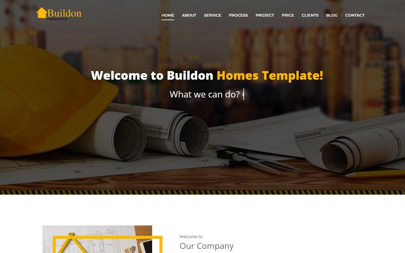 Buildon -  construction Bootstrap Landing Page Template