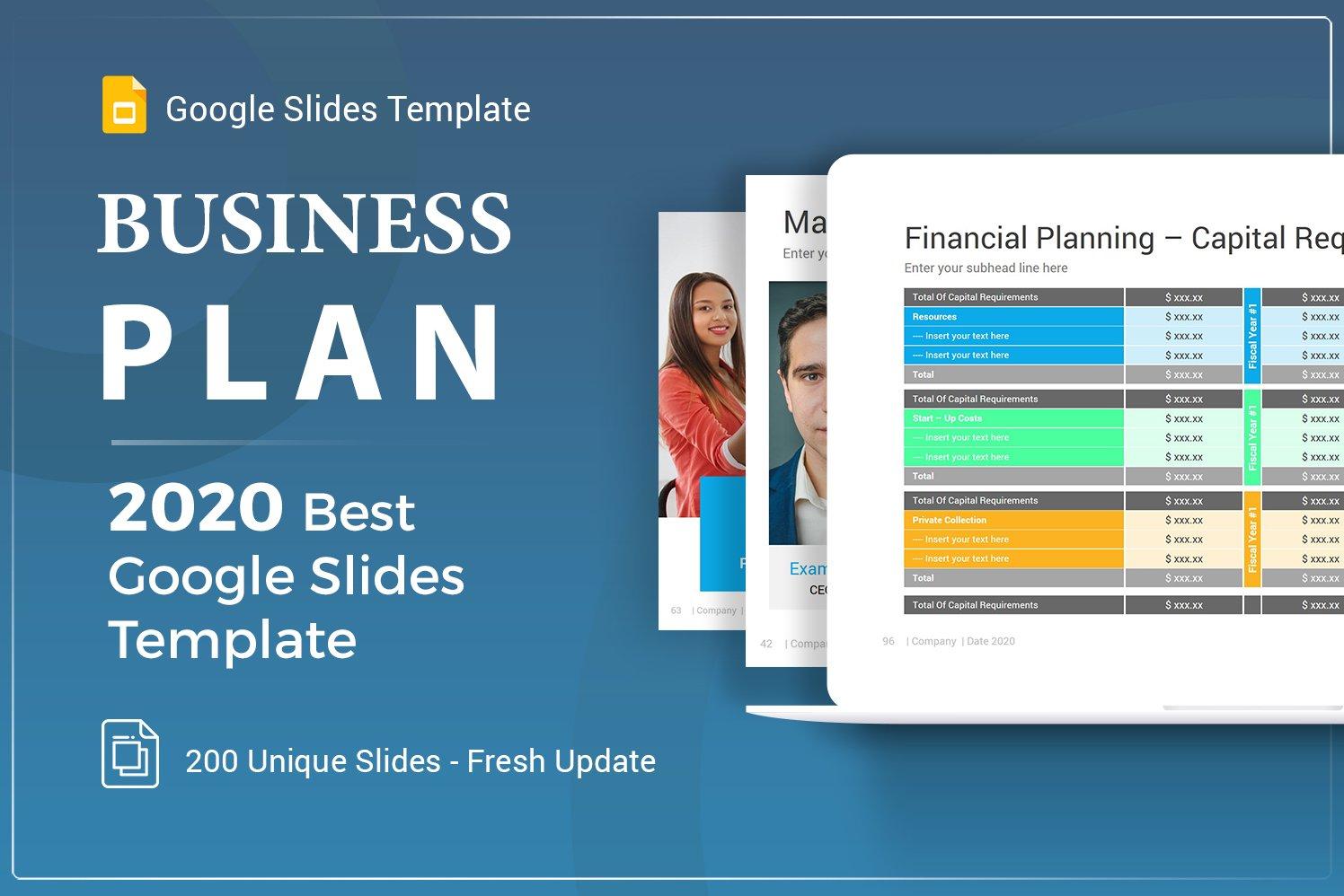 """Business Plan Google Slides"" Premium Google Slides №103013"