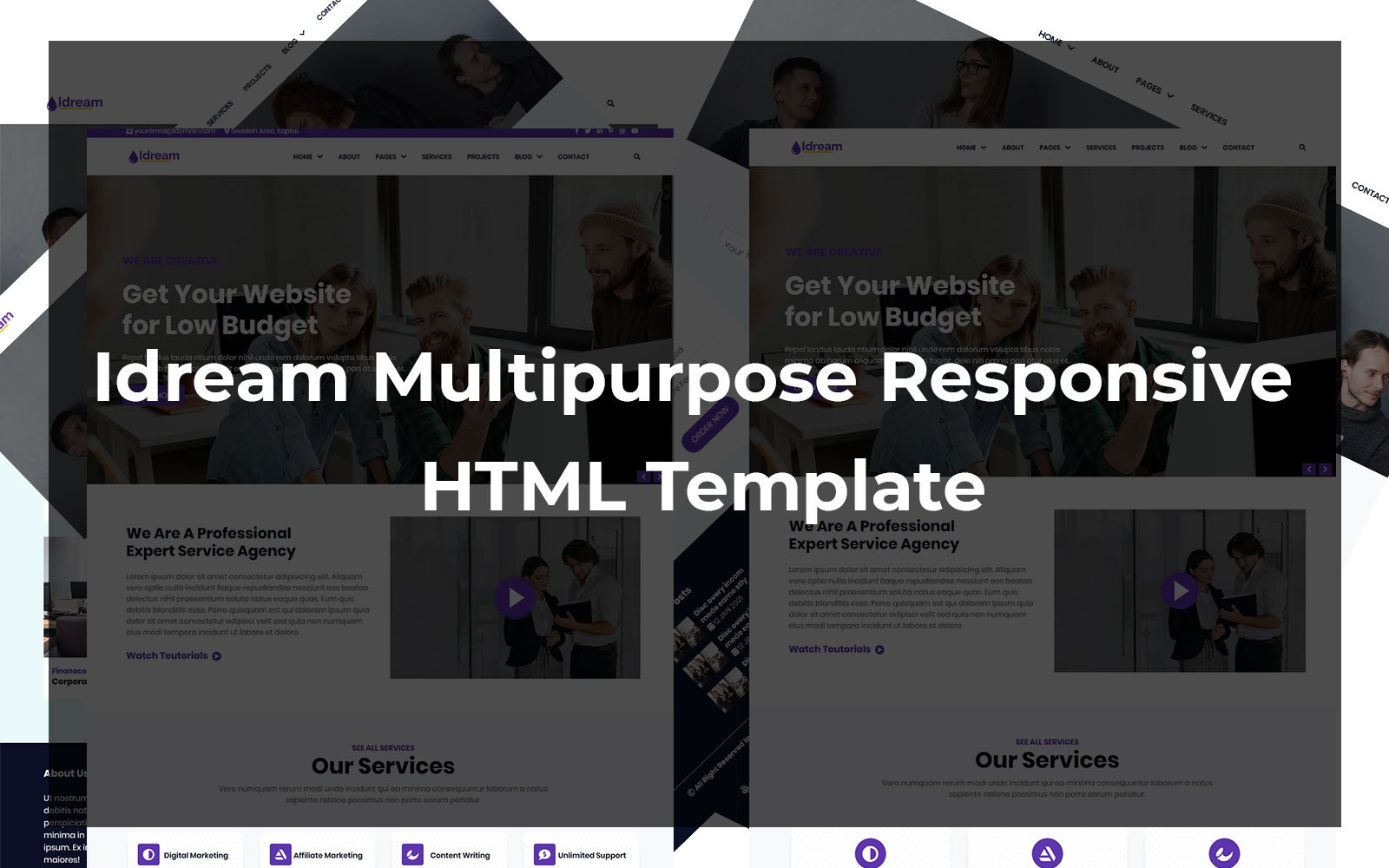 """Idream - Multipurpose Responsive HTML"" modèle web adaptatif #103091"