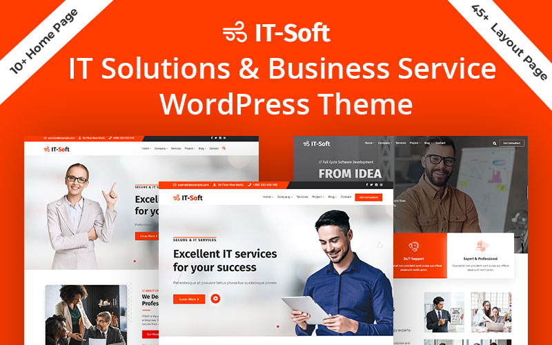 """Modello WordPress Responsive #103097 """"ItSoft-IT Solution & Business Services"""""""