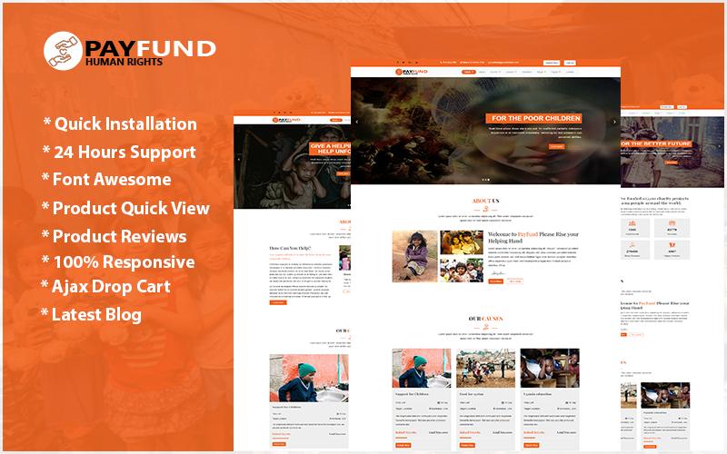 """Payfund - Charity Nonprofit Organization"" Responsive Website template №103096"