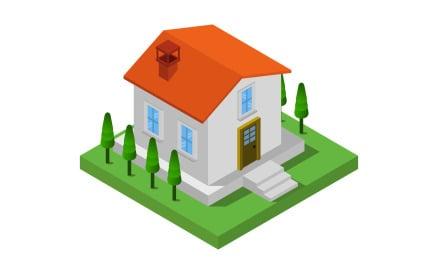 Isometric House Vector Graphic