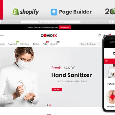Covidex Health + Medicine Online Store Shopify Theme #103141