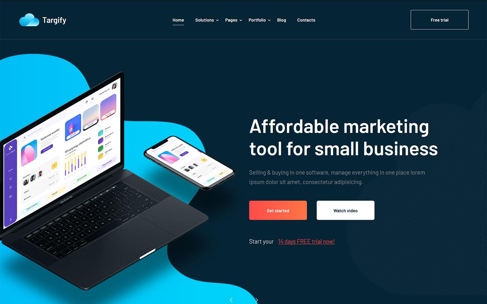 Responsivt Targify - Marketing Automation SAAS WordPress-tema #103143