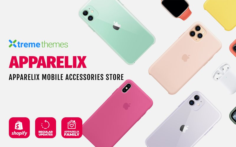 "Responzivní Shopify motiv ""Apparelix Mobile Accessories"" #103102"