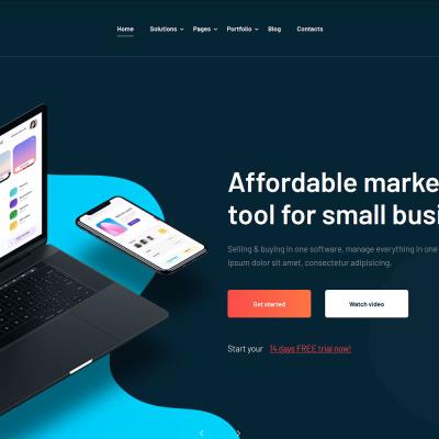 Targify - Marketing Automation SAAS WordPress Theme #103143