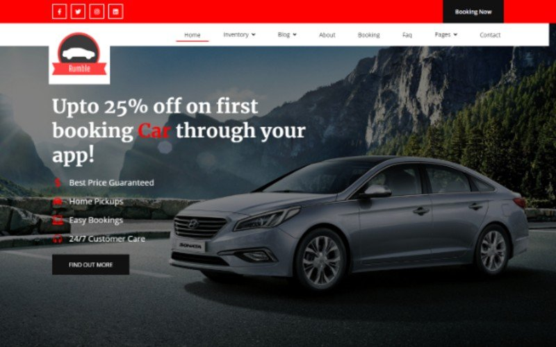 "Tema Siti Web Responsive #103140 ""Car Rental Booking"""