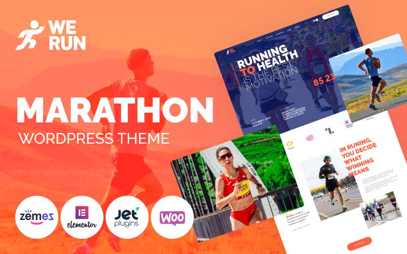"""Tema WooCommerce """"WeRun - Marathon"""" #103100"""
