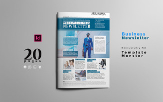 Magazine Template Corporate Business Newsletter Layout