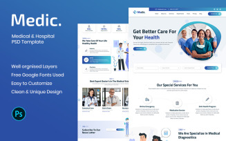 Medic - Medical & Hospital PSD Template