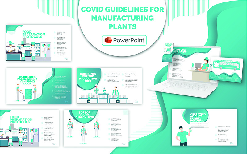 COVID Guidelines for Manufacturing Plants PPT PowerPoint Template