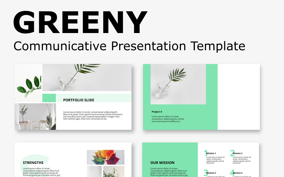 Greeny - Communicative Presentation PowerPoint Template