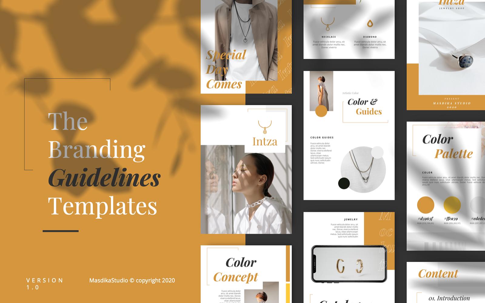 INTZA - Luxury Brand Guidelines PowerPoint Template