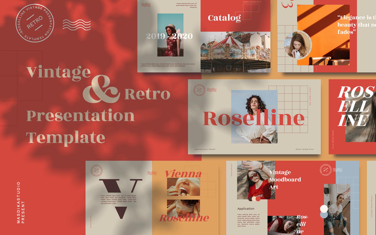 Roselline - Vintage Retro PowerPoint Template