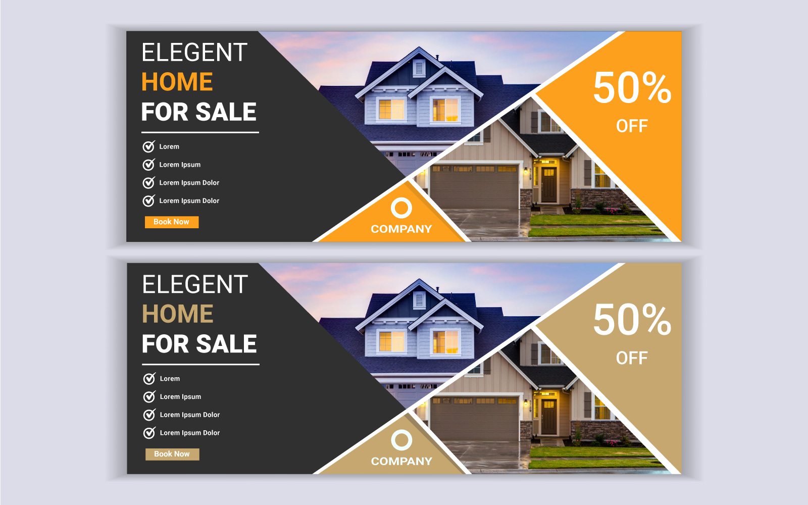 Real Estate House Web Banner Facebook Cover Template Social Media 103568