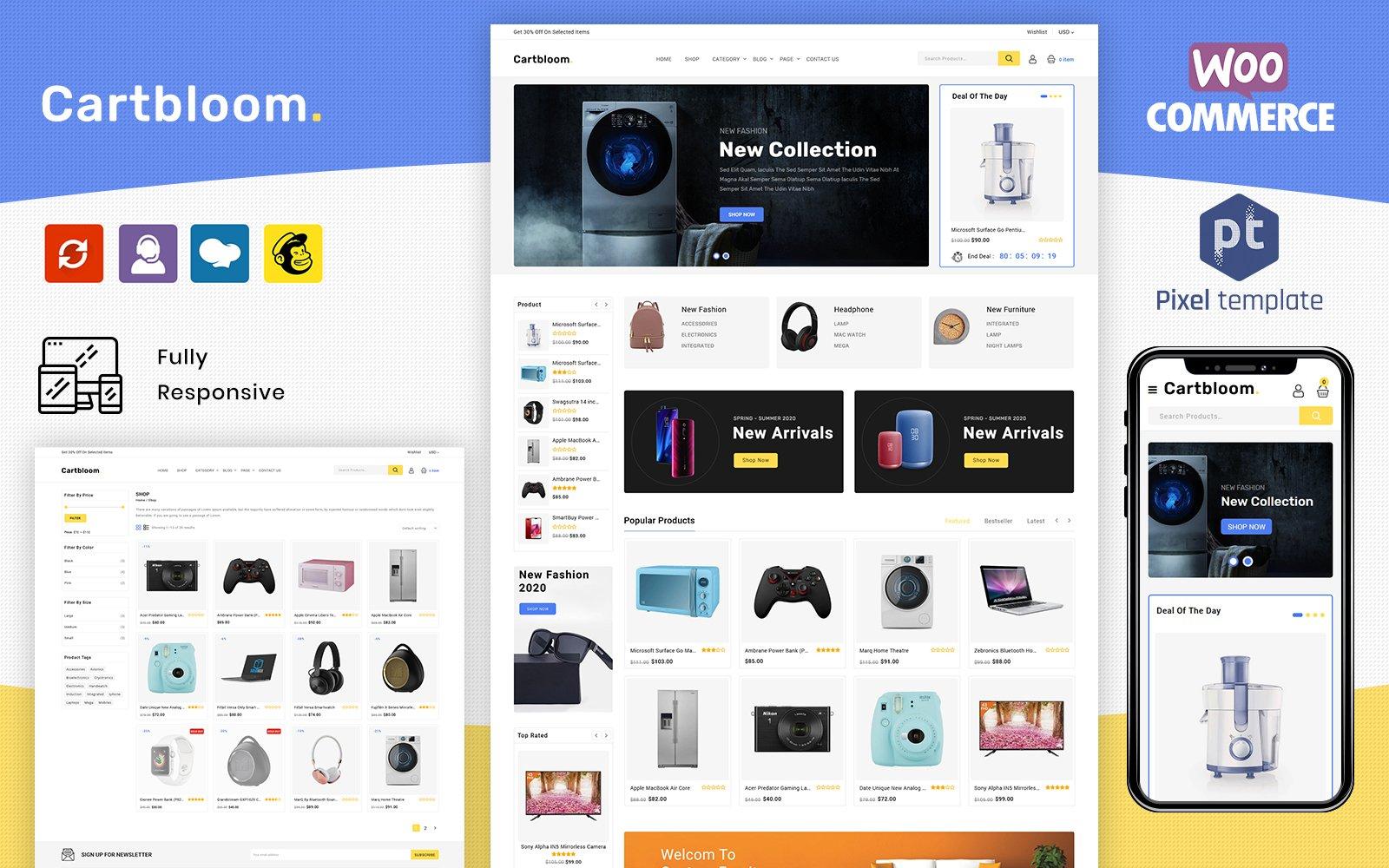 Tema para woocommerce - Categoría: Moda - versión para Desktop