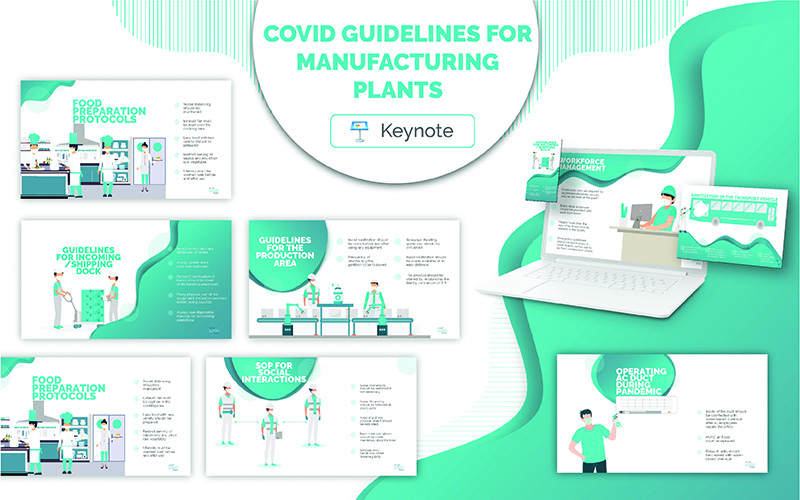 COVID Guidelines for Manufacturing Plants Key Keynote Template