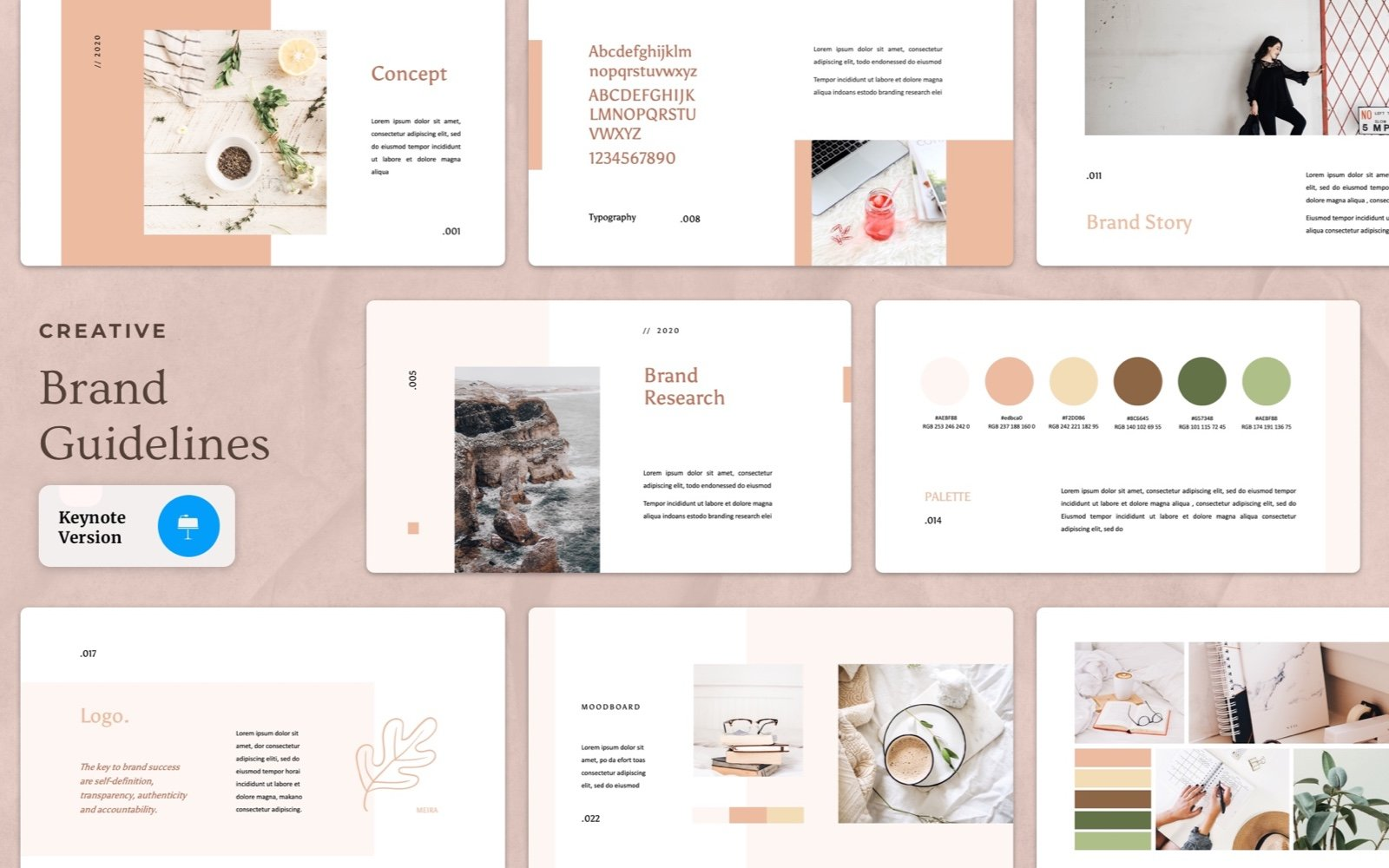 Creative Brand Guideline Keynote Template