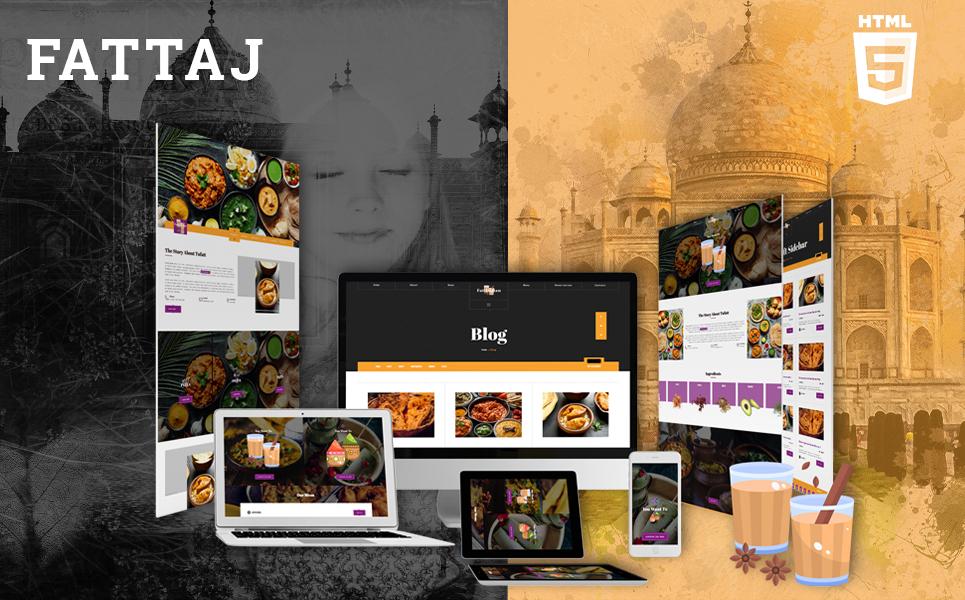 """Fattaj | India restaurant & Dhaba HTML5"" - адаптивний Шаблон сайту №103660"