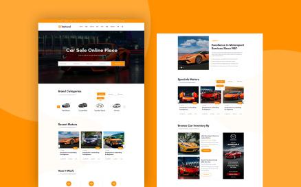 Xattend - Car PSD Template