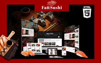 Fattsuhi | Japanese Sushi Restaurant HTML5 Website Template