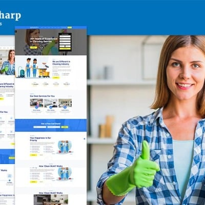 Brush Sharp   Multipurpose Responsive Cleaning Services Website Template #103907