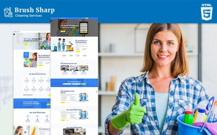 Brush Sharp | Multipurpose Responsive Cleaning Services Website Template