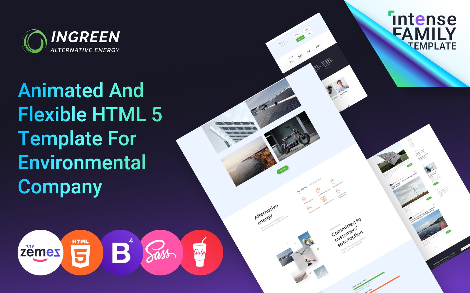 """InGreen - Green Energy"" Responsive Website template №103913"