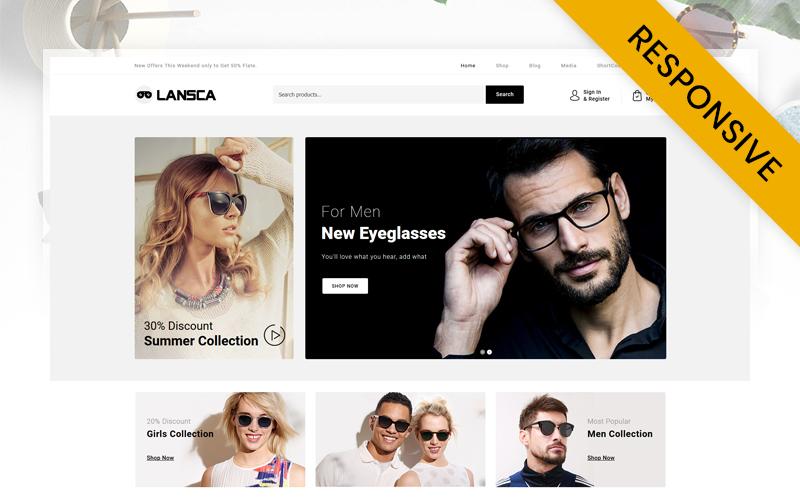 """Lansca - Multipurpose"" 响应式WooCommerce模板 #103910"