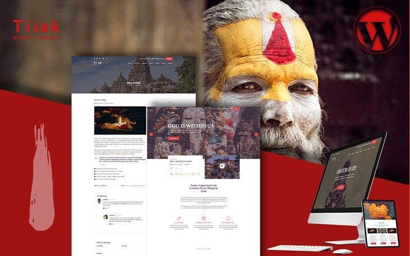 Responsywny motyw WordPress Tilak | Hindu Temple #103998