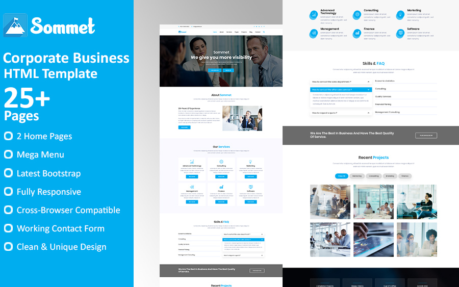 Sommet - Corporate Business HTML5 Website Template