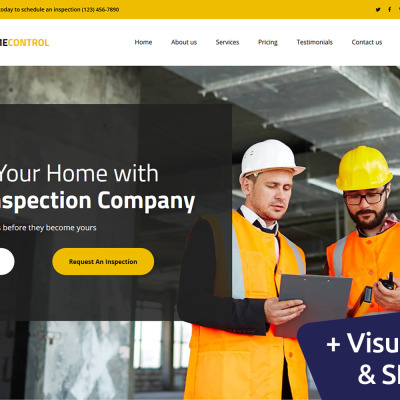 Responsywny szablon Landing Page Home Inspector #104007 #104007