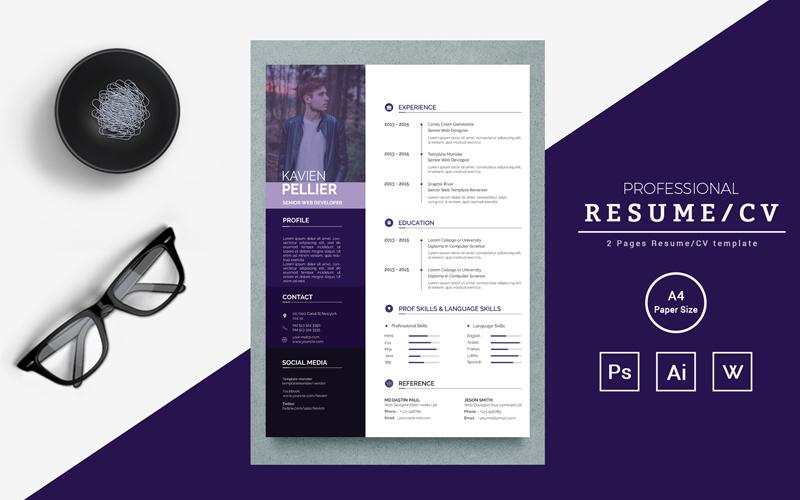 Cover Letter for Web Devloper and Kavin Resume Template