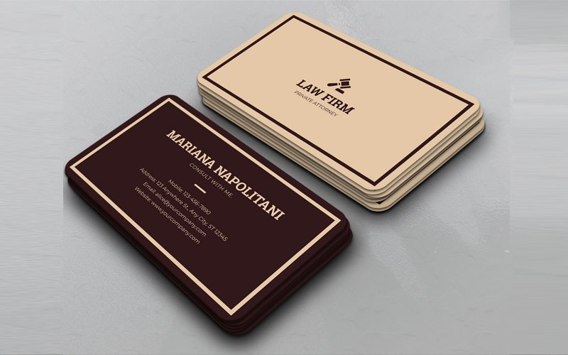 Law Firms Business Card Corporate Identity Template