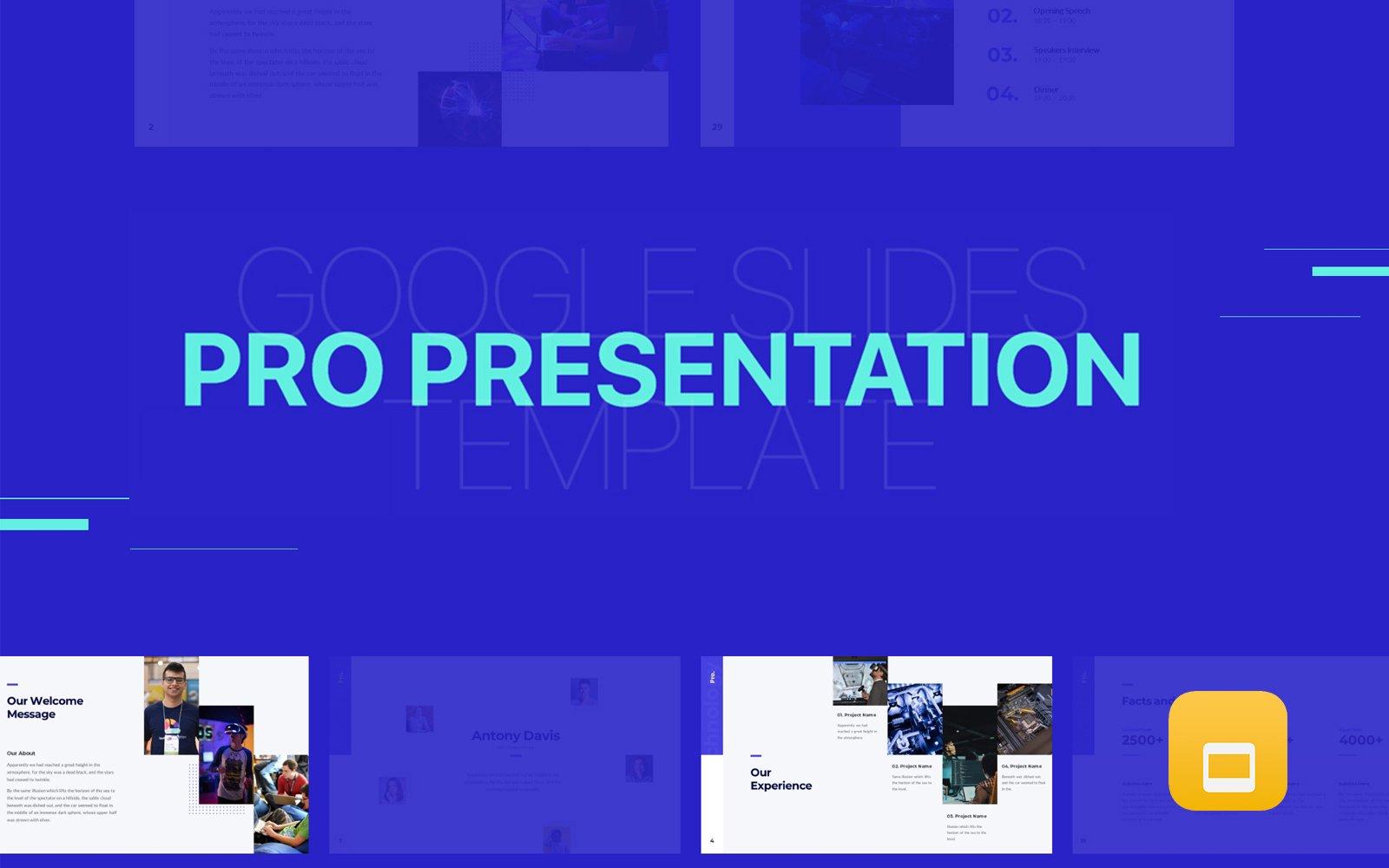 Pro Presentation - Animated Google Slides