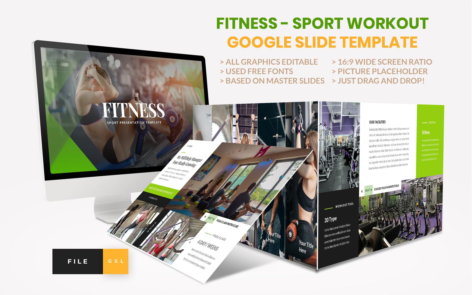Sport - Fitness Business Workout Google Slides