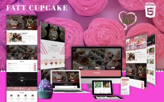 Dessert & Bakery HTML5   Fatt Cupcake Website Template