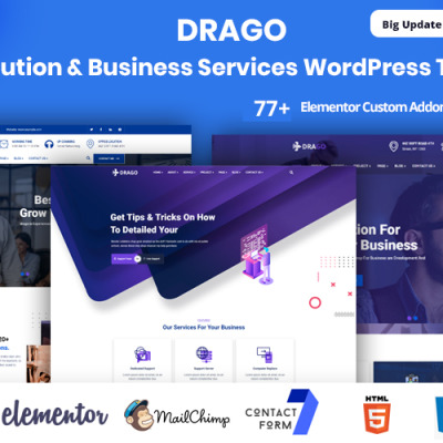 Drago-IT Solution & Business Services WordPress Theme WordPress Theme #104270