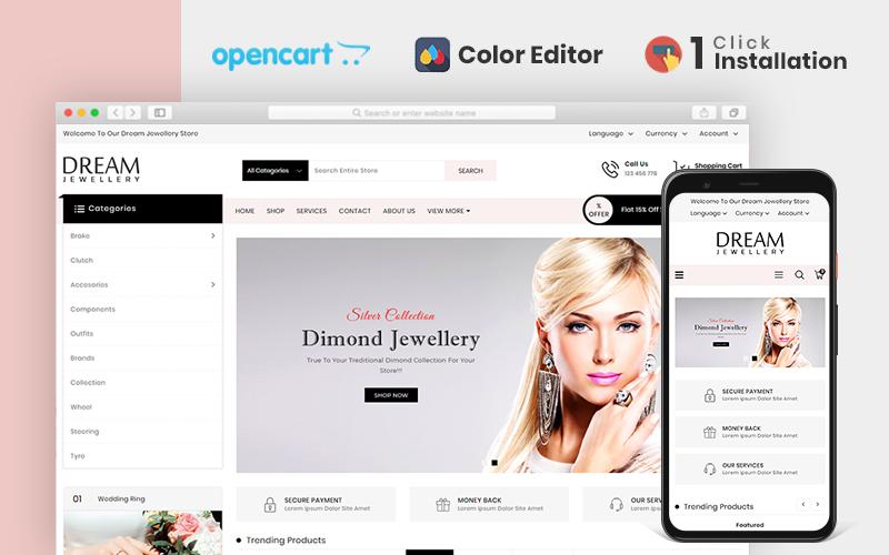 "Responzivní OpenCart šablona ""Dream Jewellery Store"" #104268"