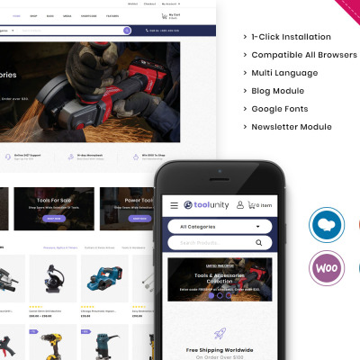 Toolunity - The Tootstore Responsive WooCommerce Theme #104277