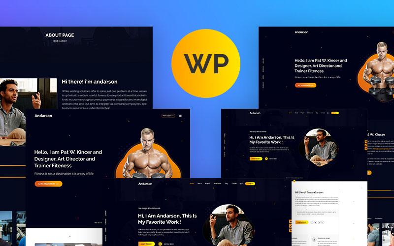 Bootstrap motyw WordPress Andarson - Personal #104454